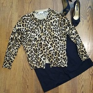 Crown and Ivy Leopard Cardigan
